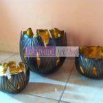 Bowl tembaga dan kuningan Laksmana Art Shop Tumang 1